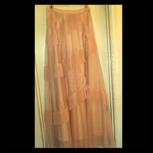 LC blush pink maxi skirt